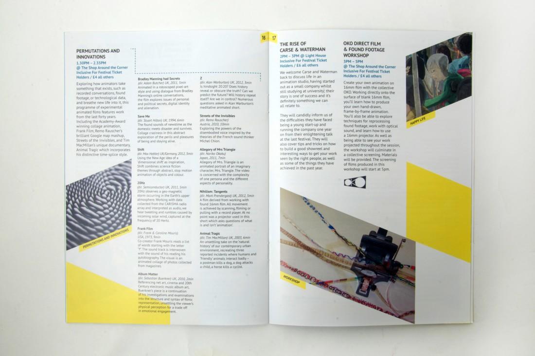 Flip animation festival brochure design for Festival brochure design