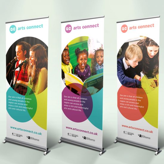 Arts Connect banners