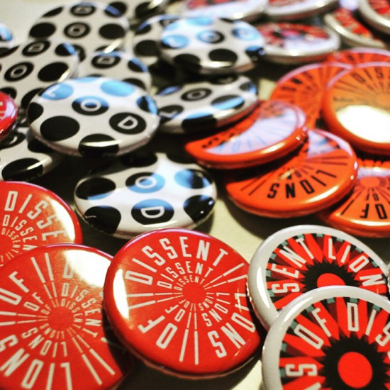 Lions of Dissent badges