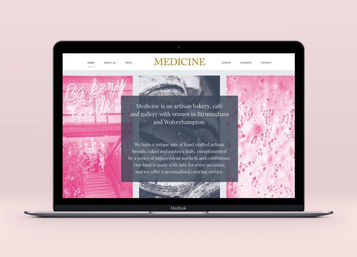 Medicine website design