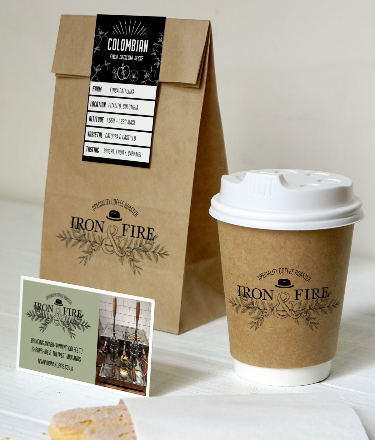 Iron & Fire packaging