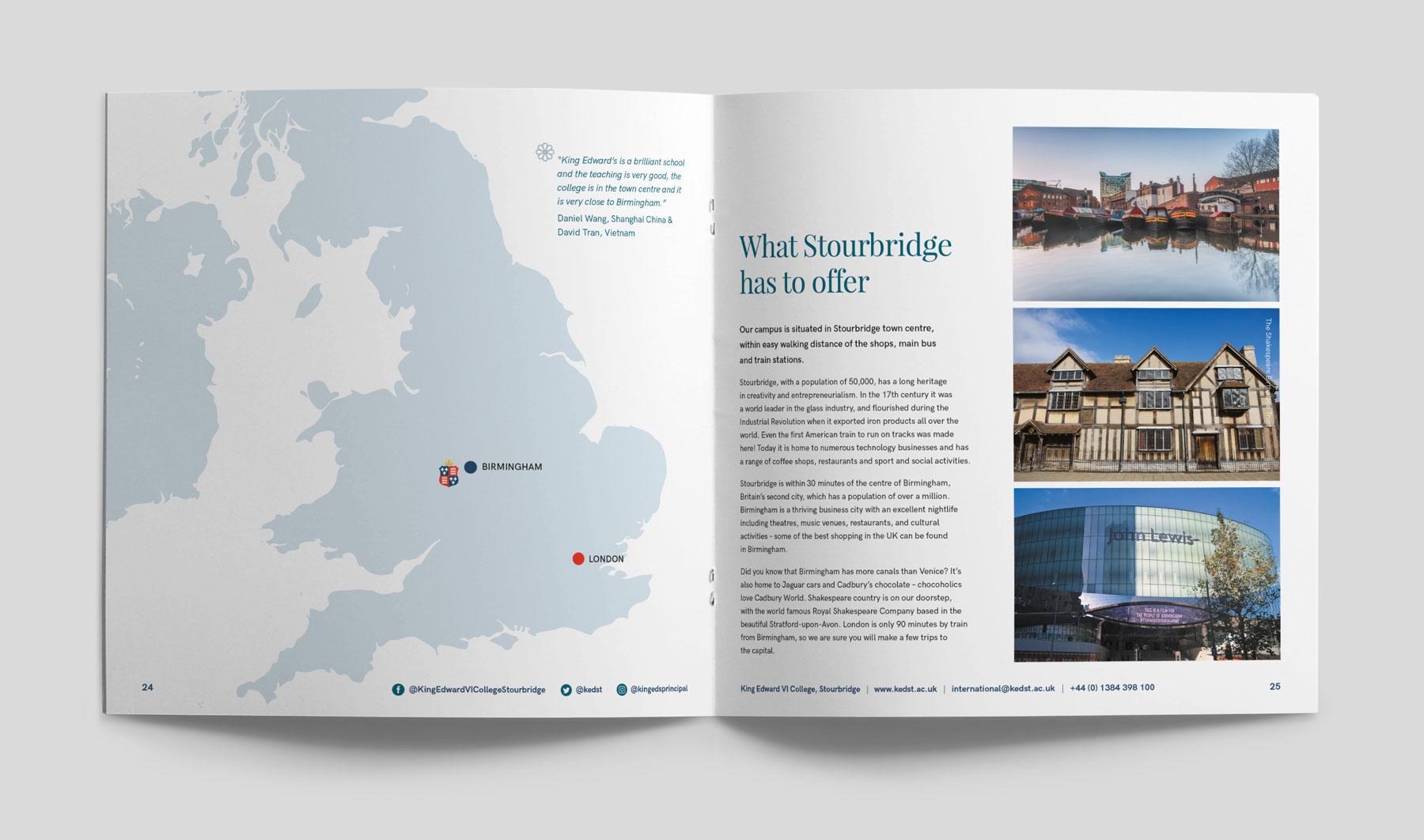 King Edward VI College Stourbridge rebrand