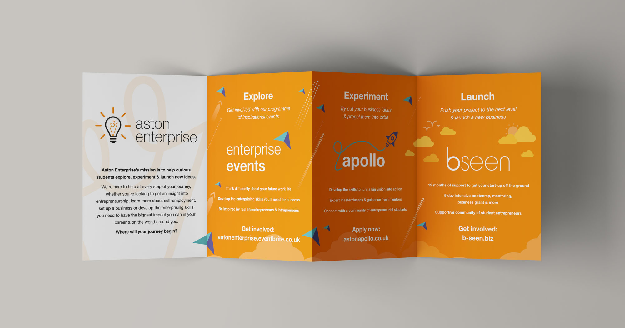 Aston Enterprise folded leaflet