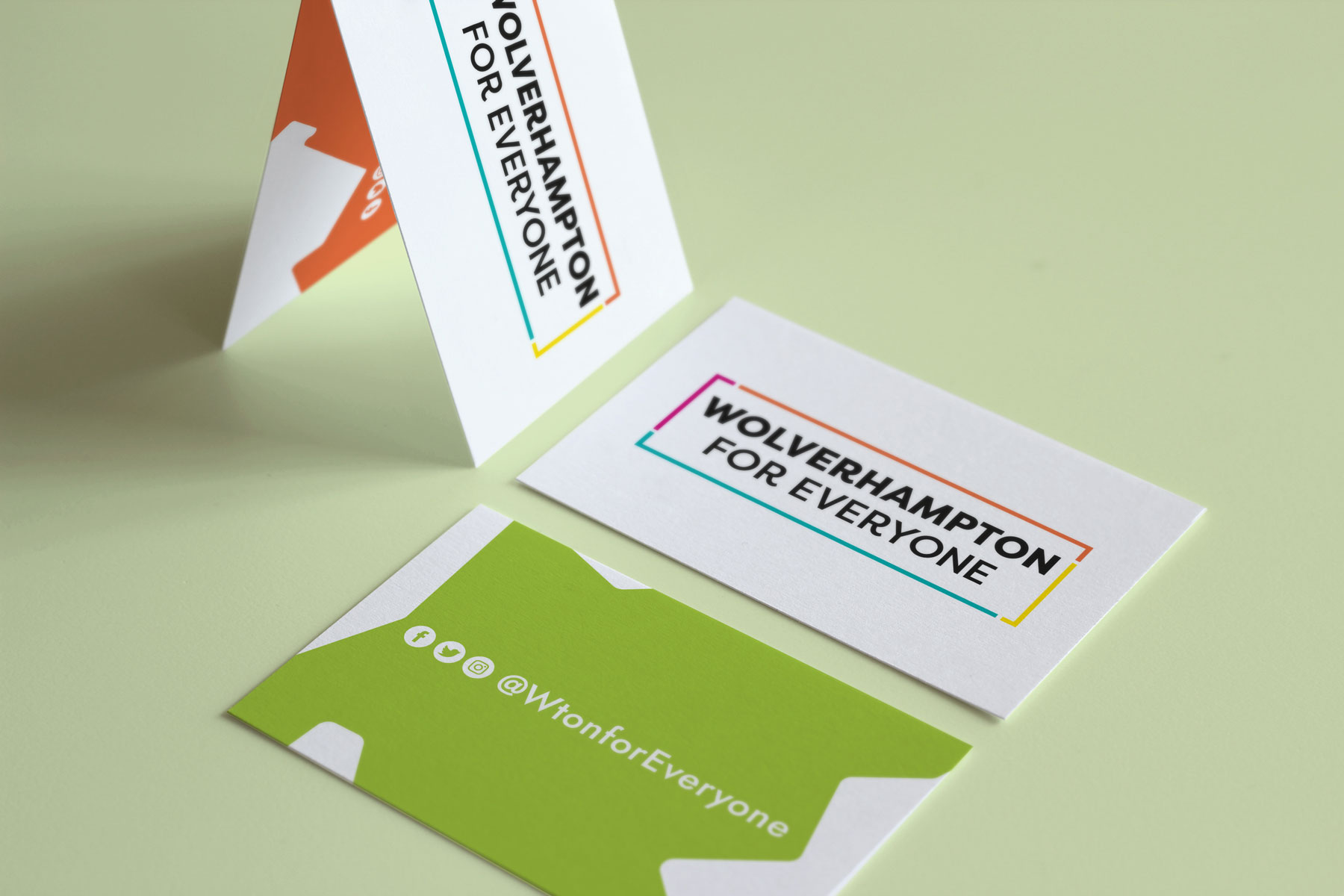 Wolverhampton for Everyone business cards