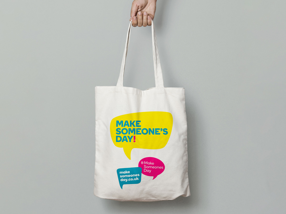 Make Someone's Day tote bag