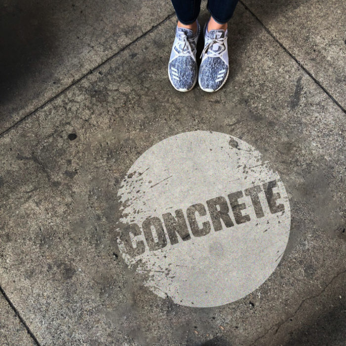 Concrete clean grafitti