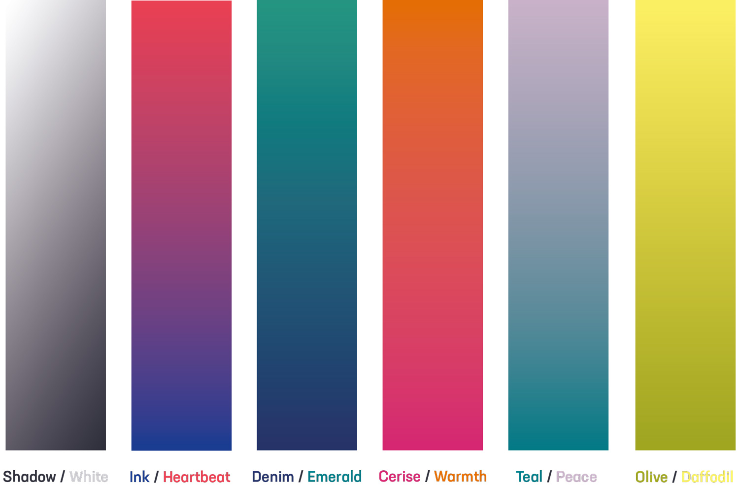 Gradient colour palette