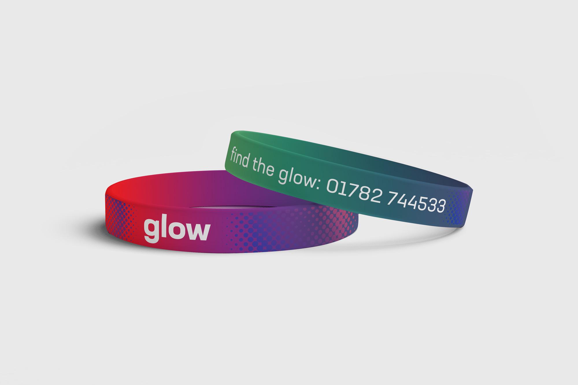Glow fundraising wristbands