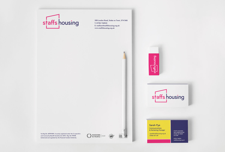 Staffs Housing stationery set