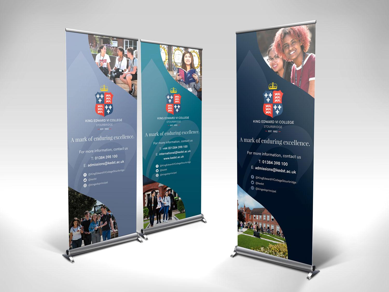 King Edward VI College Stourbridge pull up banners