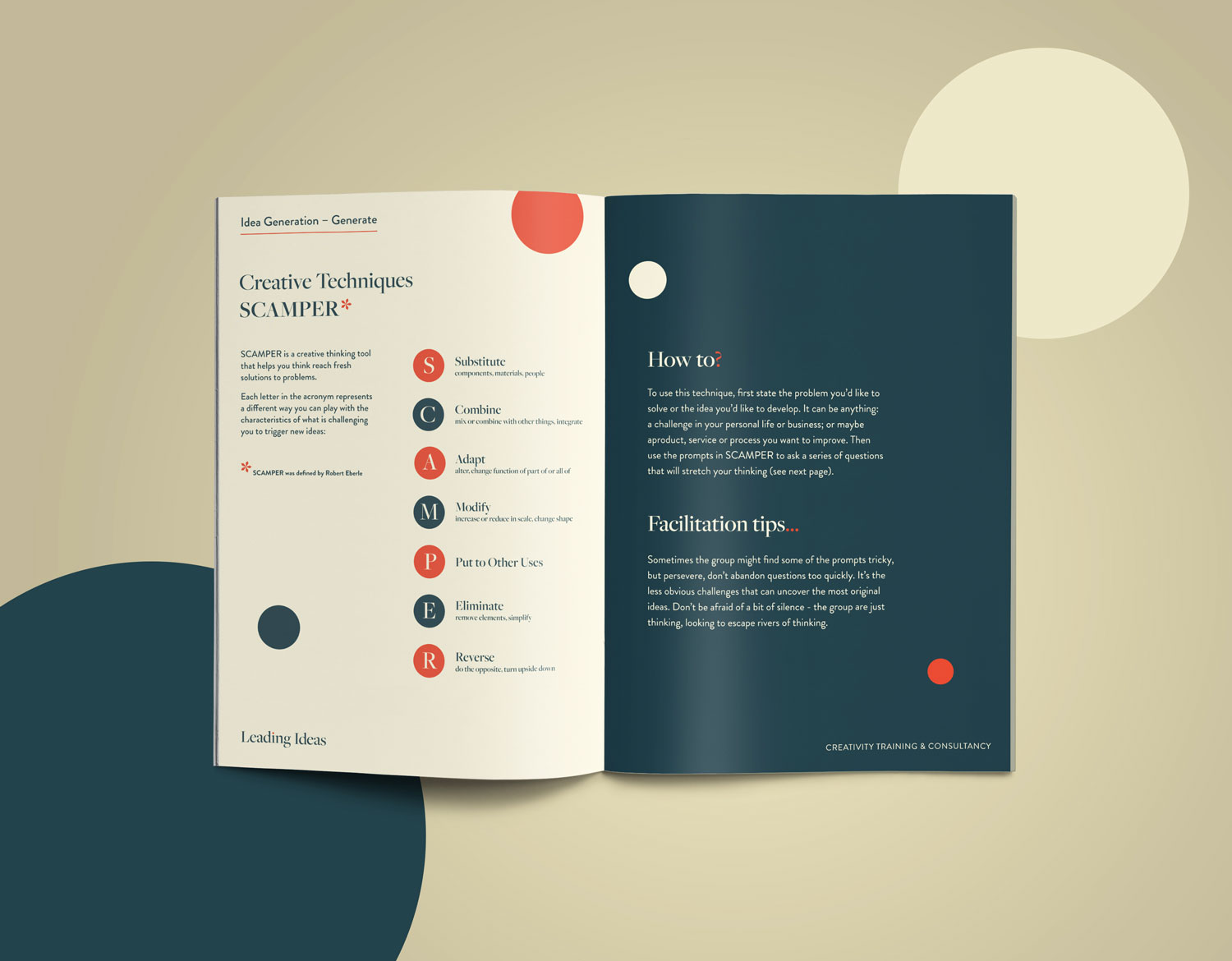 Leading Ideas brochure design