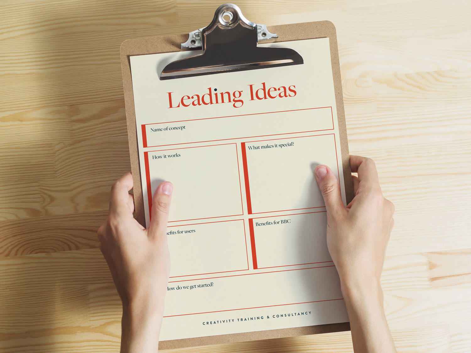 Leading Ideas print design